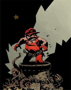 Mike Mignola Does Mario  The Hellboy creator puts his iconic heavily-shadowed spin on everyone's favorite Italian plumber.
