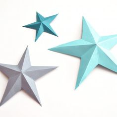 Learn how to make these 3D paper stars and other fun paper crafts for kids!