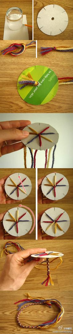 leuk koord - this was the original spelling so I'll leave it. Looks very easy to do - must try it and add a couple of beads somewhere! Try it with spagetti leather.