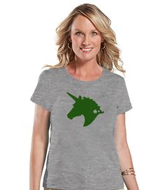 Have you seen our newest item yet?  Women's Unicorn S.... Check it out here! http://7ate9apparel.com/products/womens-unicorn-shirt-st-patricks-day-irish-unicorn-t-shirt-womens-grey-t-shirt-green-unicorn-head-lucky-unicorn-gift-for-her?utm_campaign=social_autopilot&utm_source=pin&utm_medium=pin