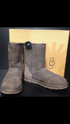 65ccb498c We love Uggs! These classic short chocolate brown boots are a size 9