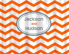 Custom Personalized Damask and Chevron Shower Curtain by redbeauty