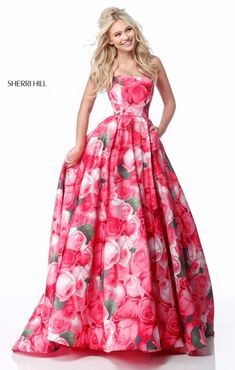 82 best sherri hill prom 2018 images on pinterest formal dress floral print prom ballgown available in pink sherri hill dress floral prom dresses mightylinksfo