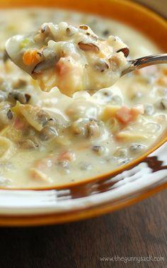 Chicken and Ham Wild Rice Soup