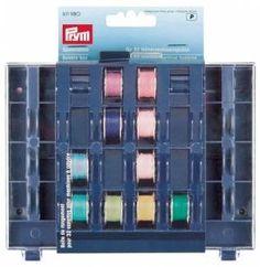 Prym Spulenbox aus Kunststoff, zur Aufbewahrung von 32 Unterfadenspulen (im Lieferumfang nicht enthalten).
