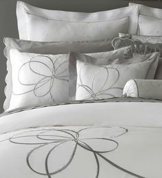 Kate Spade Belle Boulevard Luxury Bedding Duvet Cover Embroidered