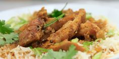 Chicken Thighs in Mild Red Curry Recipe : Rachael Ray : Food Network Rib Recipes, Indian Food Recipes, Cooking Recipes, Ethnic Recipes, Best Chicken Thigh Recipe, Chicken Thigh Recipes, Red Curry Recipe, Curry Recipes, Food Network Recipes