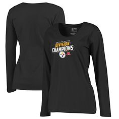 2b1b47e5fd4 Pittsburgh Steelers NFL Pro Line by Fanatics Branded Women s 2017 AFC North  Division Champions Long Sleeve T-Shirt – Black