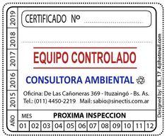 Adhesivo de Certificación de Izado de Equipos (Ingeniería)