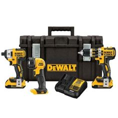 DEWALT 20-Volt MAX Lithium-Ion Cordless Combo Kit with Tough Case (3-Tool) $299.00 #BestReviews