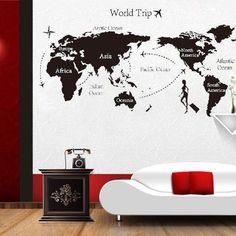 World Trip - World Maps Wall Sticker Decal