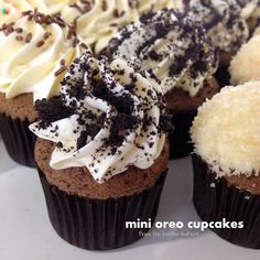 the batter baker: Mini Oreo Cupcakes