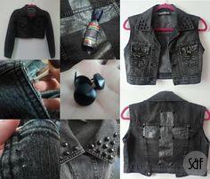 Transforme sua jaqueta velha em um colete