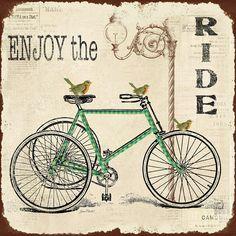 Enjoy The Ride Bicycle Art Digital Art