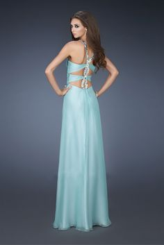 La Femme Prom dress with bead Sexy & New Brand for girl Long Chiffon Party High class