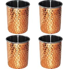 STREET CRAFT Copper Water Glasses, Double Wall Tumbler Indian Drinkware Accessories,Hammered Copper Tumbler,Ayurveda Health Benefit 350 Ml (4, Brown) STREET CRAFT http://www.amazon.com/dp/B015OEQCK8/ref=cm_sw_r_pi_dp_gGc.wb18M522N