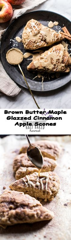Pair this with local apple cider? Baked Apples, Cinnamon Apples, Just Desserts, Delicious Desserts, Apple Scones, Snack Recipes, Dessert Recipes, Easy Recipes, Snacks