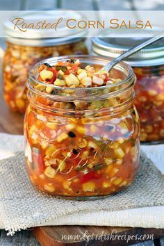 Roasted Corn Salsa - this looks delish but I wouldn't waterbath as suggested - it needs to be pressure canned because of the quantity of low acid corn. I might also reduce the quantity and just eat it that week. Salsa Canning Recipes, Canned Corn Recipes, Corn Salsa Recipe Canning, Canning Tips, Canning Corn, Pressure Canning Recipes, Homemade Corn Salsa Recipe, Pressure Cooking, Canning Homemade Salsa