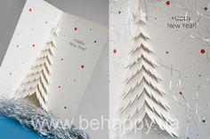 новогодняя открытка Diy Christmas Cards, Kirigami, Diy Cards, Paper Cutting, Embroidery Stitches, Pop Up, Paper Crafts, Advertising, Winter