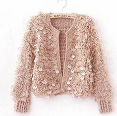 2015 Women Fashion Tops Pure Handmade Crochet Mohair Cardigans Fuzzy Sweater Furry Fleece Knitted Jackets Winter Cardigan Tops