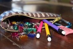 This is my musician's toolkit. The bag is filled with pencils, erasers and binder clips. Okay, so pencils are a necessity for any musician and erasers come in handy, but binder clips? Binder clips are the secret to an effortless piano music page turn. Click to learn how to make your own musician's toolkit.