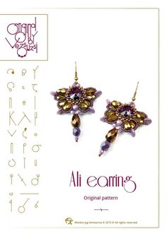 bead pattern Ali earring ...PDF instruction for by beadsbyvezsuzsi, $9.00