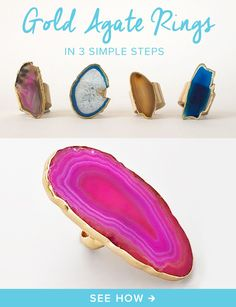 Create colorful fall jewelry using agate stones. See the steps!