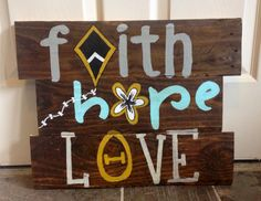 Kappa Alpha Theta pallet #faith #hope #love