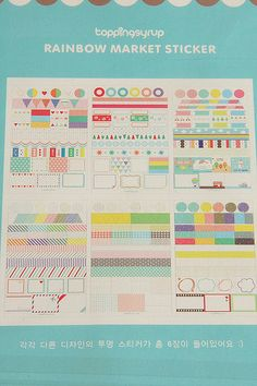 Japanese Masking Tape-Deco Tape-Sticker Set-Diary Sticker-Planner Sticker-Washi Tape-Sticker Set-Label Set. $6.95, via Etsy.