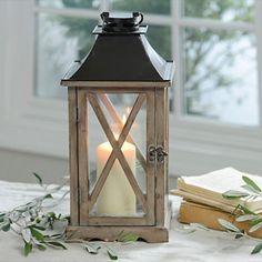 Natural Wood Lantern Kirklands $20