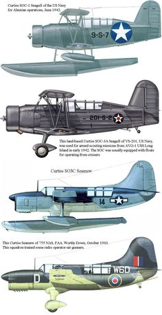 The Curtiss SOC Seagull was a United States single-engined scout observation biplane aircraft, designed by Alexander Solla of the Curtiss-Wright Corporation. Us Navy Aircraft, Ww2 Aircraft, Fighter Aircraft, Military Aircraft, Model Warships, Airplane Art, Flying Boat, Ww2 Planes, Wwii