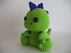 Crochet Dinosaur PDF...Way too cute!!!! Stet would love a couple of these in different colors!!