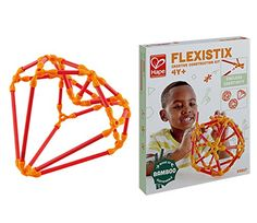 $9.99, Hape Flexistix STEM Building Creative Construction Kit, Featuring 66 Multi-Colored Bamboo Pieces