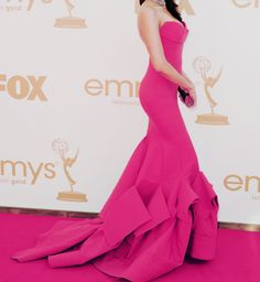 Hot pink red-carpet gown