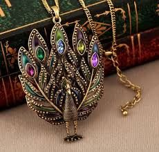 Image result for peacock jewelry