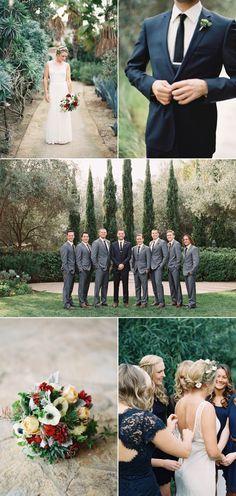 Organic Winter Wedding in La Jolla – Style Me Pretty