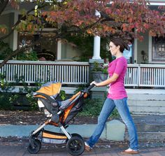 While out and about with baby, get safety and style with the BOB B-Safe Infant Car Seat by Britax. Best Travel Stroller, Orange Show, Travel System, Baby Car Seats, Baby Strollers, Infant, Bob, Children, Compact