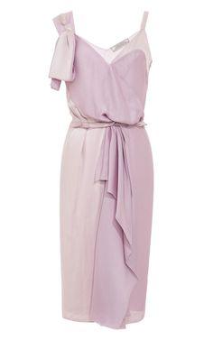 NINA RICCI Silk-Satin Draped Dress $1,990