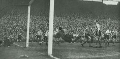 Luton Town 1 Norwich City 0 in March 1959 at Villa Park. Billy Bingham scores the only goal in the FA Cup Semi Final Replay.