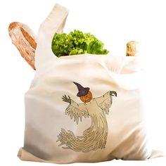 Pumpkin Headed Ghost Reusable Shopping Bag on CafePress.com