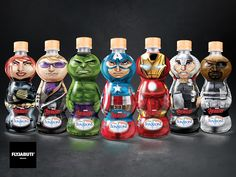 Bonafont Avengers on Packaging of the World - Creative Package Design Gallery