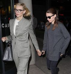 """726 Likes, 45 Comments - Cate Blanchett & Rooney Mara (@caterooneylove) on Instagram: """"""""Come here darling, I don't wanna lose you """" Cate & Rooney heading home last night …"""""""