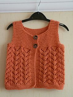 Sleeveless Gilet for ages 3/6/12 & 18 months
