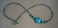 Turquoise and bronze Doodlebert Designs   Necklaces