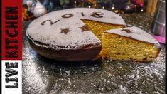 Βασιλόπιτα πολυτελείας (Vasilopita) - Cake Christmas - Live Kitchen Greek Sweets, New Year's Cake, Cheesecake Cake, Piece Of Cakes, Greek Recipes, Cake Recipes, Brunch, Food And Drink, Baking