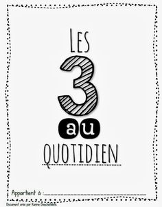 3 au quotidien French Teaching Resources, Teaching French, Daily Five, French Immersion, Reading Strategies, Literacy, Education, Grade 1, Language Arts