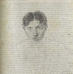 André Breton [letter to Theodore Fraenkel with self-portrait] January 1919 ~ France Surrealist Manifesto, Self Portrait Drawing, Selfies, Artist Sketchbook, Writers And Poets, French Artists, Mail Art, Drawings, Portraits