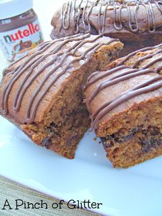 Pumpkin Nutella Swirl Bread a co-worker made this today and I thought I had died and gone to heaven! Amazing!!!!!!