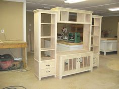 Unfinished Entertainment Center
