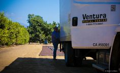 Our driver Adrian is unloading the truck and getting ready for a big install!